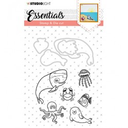 (BASICSDC31)Studio light Stamp & Die Cut Essentials Animals nr 31