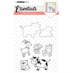 (BASICSDC32)Studio light Stamp & Die Cut Essentials Animals nr 32
