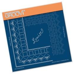 (GRO-GG-41290-12)Groovi Grid Piercing Plate PRINCESS LOUISE GRID DUET