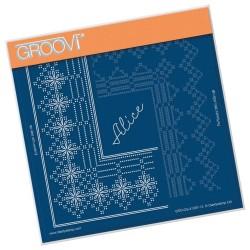 (GRO-GG-41287-12)Groovi Grid Piercing Plate PRINCESS ALICE GRID DUET
