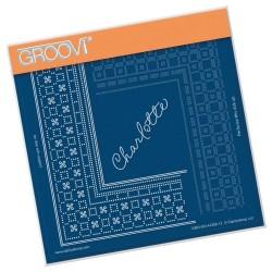 (GRO-GG-41288-12)Groovi Grid Piercing Plate PRINCESS CHARLOTTE GRID...