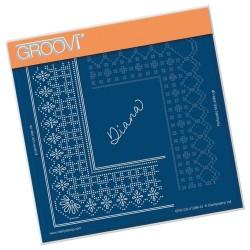 (GRO-GG-41289-12)Groovi Grid Piercing Plate PRINCESS DIANA GRID DUET