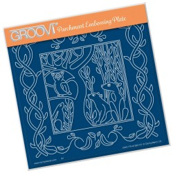 (GRO-TR-41282-03)Groovi Plate A5 WOODLAND FOXES