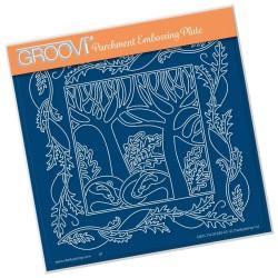 (GRO-TR-41283-03)Groovi Plate A5 WOODLAND BADGER