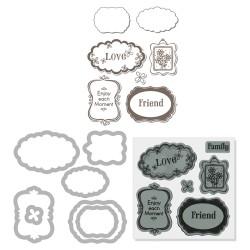 (657779)Framelits Die St H.A w/stamp Message Frames