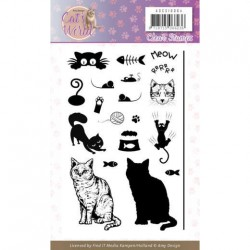 (ADCS10064)Clear Stamps - Amy Design - Cats World