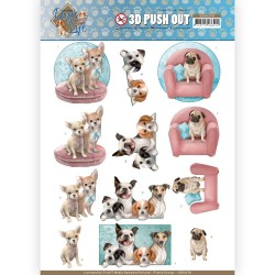 (SB10378)3D Pushout - Amy Design - Dog's Life - All kind of Dogs