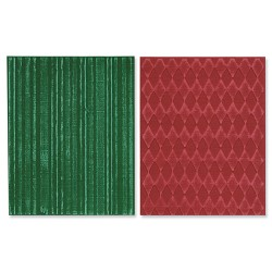 (657849)Texture Fades Embos.Folders 2PK - Harlequin & Stripes Se