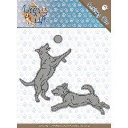 (ADD10190)Dies - Amy Design - Dogs - Playing Dogs