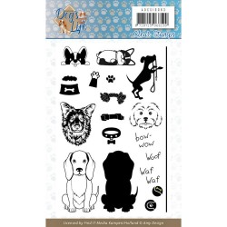 (ADCS10063)Clear Stamps - Amy Design - Dog's Life
