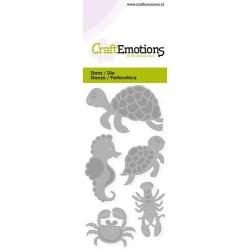 (115633/0248)CraftEmotions Die - turtle, seahorse