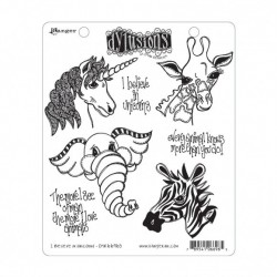 (DYR66965)Ranger • Dylusions cling stamp unicorns