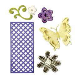 (659069)Thinlits Die Set 6PK - Butterfly, Flowers & Lattice