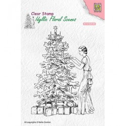 (IFS019)Nellie`s Choice Clearstamp - Vintage Christmas