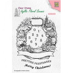 (IFS020)Nellie`s Choice Clearstamp - Christmas Wreath