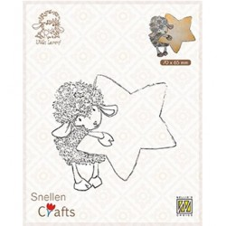 (SCLOLA006)Snellen Crafts Lammy with star