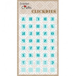 (SCCD001)Snellen Crafts Clickdies Alphabet-1 (Capitals)