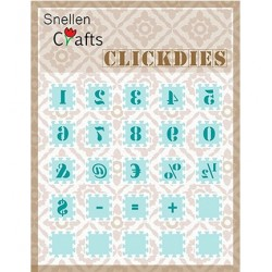 (SCCD003)Snellen Crafts Clickdies Numbers & punctuation marks