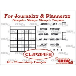 (CLJP204FR)Crealies Journalzz & Pl Stamps: Monthly Tracker FR