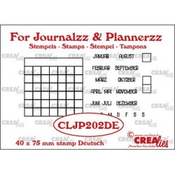 (CLJP202DE)Crealies Journalzz & Pl Stamps: Monthly Tracker DE