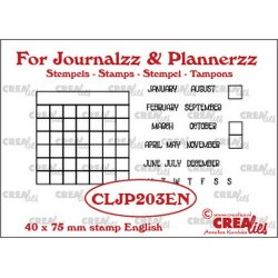 (CLJP203EN)Crealies Journalzz & Pl Stamps: Monthly Tracker EN