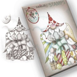 (PD7943)Polkadoodles Gnome Gift Of Xmas Clear Stamp