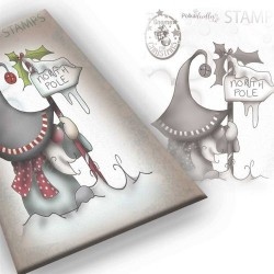 (PD7944)Polkadoodles Gnome North Pole Clear Stamp