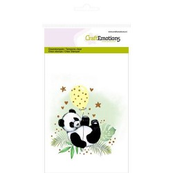 (1305)CraftEmotions clearstamps A6 - panda