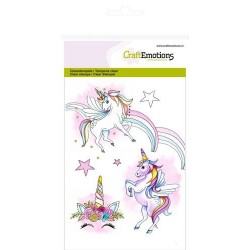 (1306)CraftEmotions clearstamps A6 - unicorn
