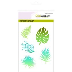 (1309)CraftEmotions clearstamps A6 - tropical leaves silhouette