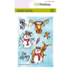 (1651)CraftEmotions clearstamps A6 - Snowy & friends 1 Carla Creaties