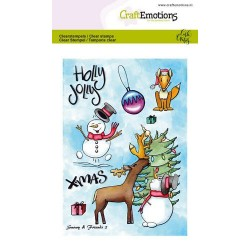(1652)CraftEmotions clearstamps A6 - Snowy & friends 2 Carla Creaties