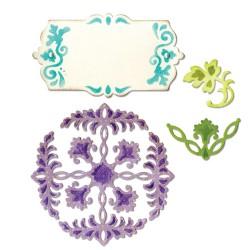 (659071)Thinlits Die Set 4PK - Ornate Flowers