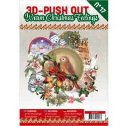 (3DPO10017)3D Pushout Book 17 Warm Christmas Feelings