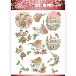 (SB10390)3D Pushout - Jeanine's Art - Lovely Christmas - Lovely Birds
