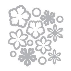 (658607)Thinlits Die Set 13PK - Flowers, Intricate