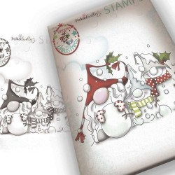 (PD7945)Polkadoodles Snow Gnomes Clear Stamp