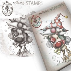 (PD7947)Polkadoodles Gnome Let's Go Clear Stamp