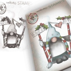 (PD7948)Polkadoodles Gnome Peace & Joy Clear Stamp