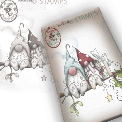 (PD7949)Polkadoodles Gnome Christmas Love Clear Stamp