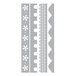 (658583)Thinlits Die Set 4PK - Dotty & Flowers Edges