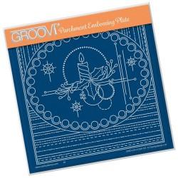 (GRO-CH-41291-03)Groovi Plate A5 TINA'S CHRISTMAS CENTREPIECE