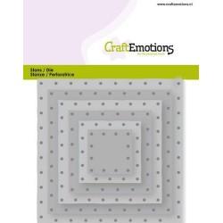 (115633/0832)CraftEmotions Die - squares vintage - rivets