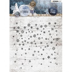 (STAMPSA401)Studio light Stamp Background Snowy Afternoon nr.401