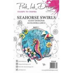 (PI049)Pink Ink Desings Seahorse Swirls