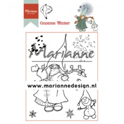 (HT1648)Clear stamp Hetty's Gnomes winter