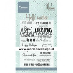 (CS1037)Clear stamp Hello winter by Marleen