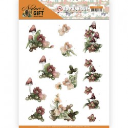 (SB10383)3D Pushout - Precious Marieke - Nature's Gift - Red Gift