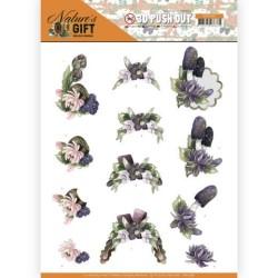 (SB10386)3D Pushout - Precious Marieke - Nature's Gift - Purple Gift
