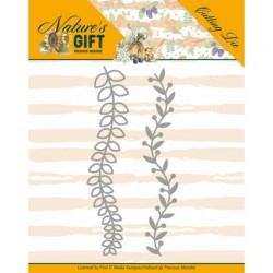(PM10168)Dies - Precious Marieke - Nature's Gift - Leaves Border